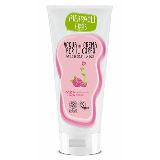 Crema fluida de corp cu apa de trandafir de Damasc Bio Pierapoli EKOS 200 ml