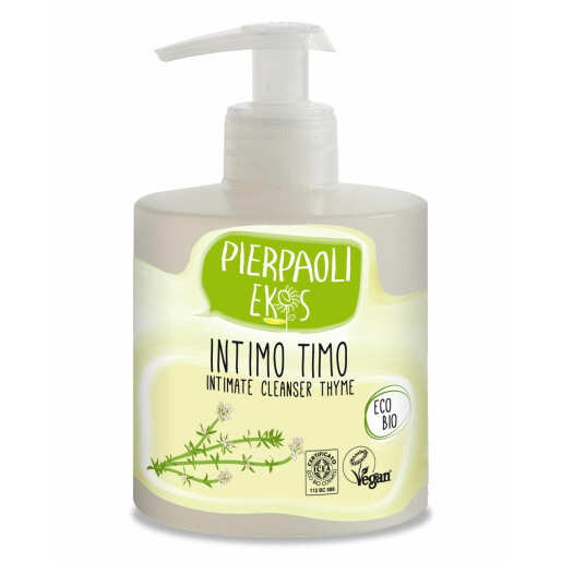 Gel pentru igiena intima cu extract antibacterian de cimbru ECO BIO Pierpaoli Ekos (vegan) 350 ml