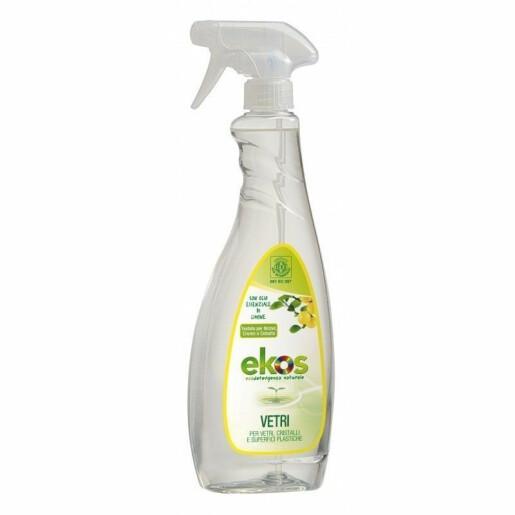 Solutie Eco pentru curatat geamuri,oglinzi si suprafete din plastic Ekos 750 ml (Default)