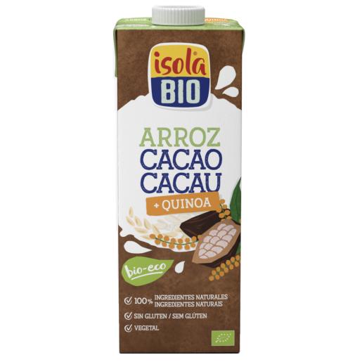 Băutura bio din orez, quinoa si cacao Isola Bio 1L (fara lactoza, fara gluten)