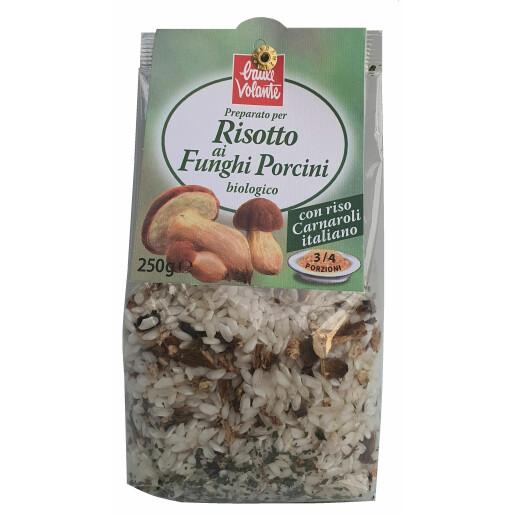 Risotto bio cu ciuperci de padure (porcini) Baule Volante 250g