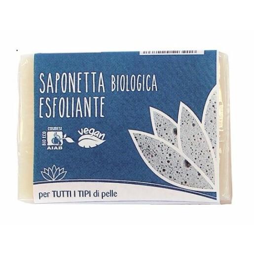 Sapun exfoliant bio, solid, vegan, Fior di Loto 100g