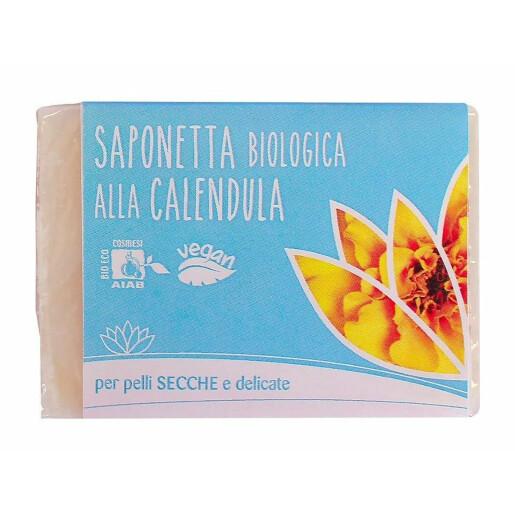 Sapun solid bio cu galbenele pentru piele uscata si delicata, vegan, Fior di Loto 100g
