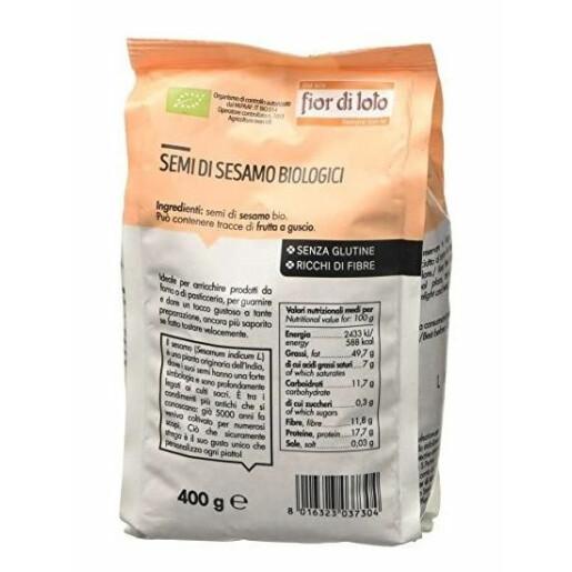 Seminte bio de susan, fara gluten, Fior di Loto 400g