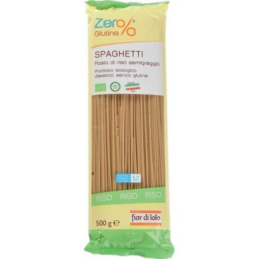 Paste bio Spaghete din orez integral, fara gluten, Fior di Loto 500g
