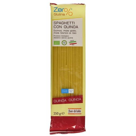 Paste bio Spaghete cu quinoa, porumb si orez, fara gluten, Fior di Loto 250g