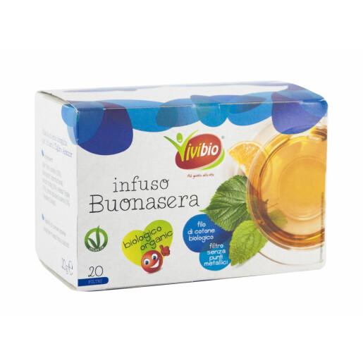 Ceai Bio de plante Bună Seara, vegan, 20 plicuri, Vivibio, 20g