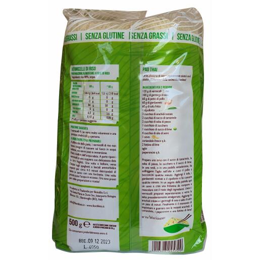 Taitei subtiri din orez (Vermicelli), fara gluten, fara grasimi, Fior di Loto 500g