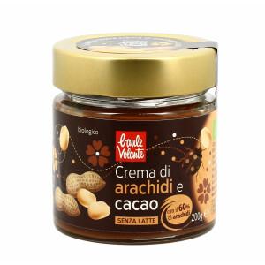 Crema bio de arahide si cacao, fara gluten, fara lapte,  Baule Volante 200g