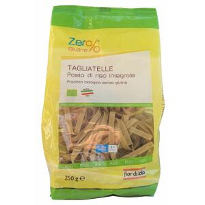Paste bio Tagliatelle din orez integral, fara gluten, Fior di Loto 250g