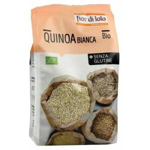 Quinoa alba bio, fara gluten, Fior di Loto 400g