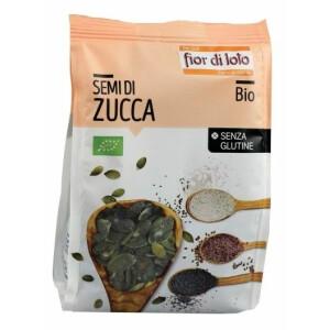Seminte bio de dovleac, decojite, fara gluten, Fior di Loto 200g