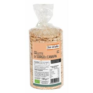 Rondele (Galete) bio din sorg si seminte de canepa, fara gluten, Fior di Loto 120g