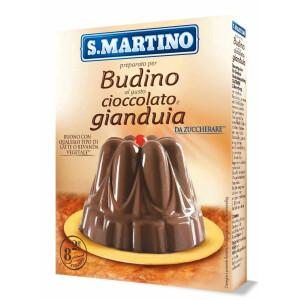 Preparat pentru Budinca de ciocolata si gianduia, fără gluten (8 portii), S.Martino, 96g