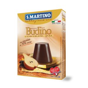 Preparat pentru Budinca de ciocolata (cu 70% cacao) si pere, fără gluten (8 portii), S.Martino, 96g
