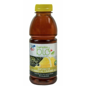 Ice Tea Ceai bio cu aroma de lamaie (indulcit cu suc de struguri, fara gluten) 500ml