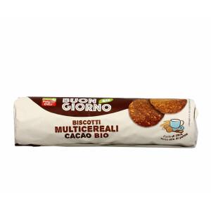 Biscuiti bio cu multicereale si cacao, fara ulei de palmier, vegan, La Finestra Sul Cielo 250g