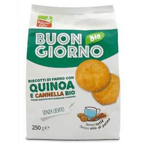 Biscuiti Buongiornobio din spelta, cu quinoa si scortisoara (fara drojdie, fara lapte, fara ulei de palmier) 2
