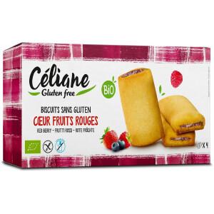 Biscuiti bio cu umplutura de fructe rosii (fara gluten) 160g Céliane