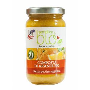 Gem bio de portocale fara pectina (indulcit cu pulpa de mere) 220g (produs vegan)