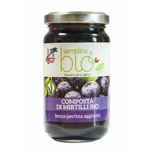 Gem bio de afine fara pectina (indulcit cu pulpa de mere) 220g (produs vegan)