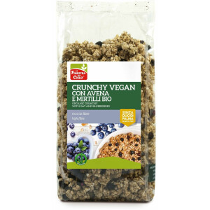 Musli crocant bio cu fulgi de ovaz si afine (vegan) 375g