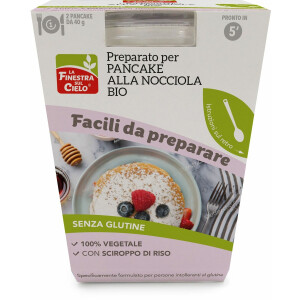 Preparat pentru clatite bio cu alune (fara gluten, vegetal) 100g