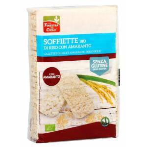 Rondele (Galete) bio din orez integral cu amarant, fara gluten, La Finestra Sul Cielo 130g