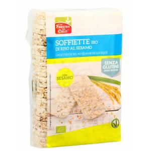 Rondele (Galete) bio din orez integral cu susan, fara gluten, vegan, La Finestra Sul Cielo 130g