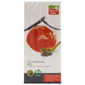 Ceai verde Bio Kukicha Uji, vegan, 25 plicuri, La Finestra Sul Cielo, 42g.