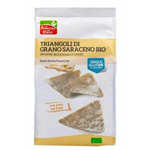 Snack Bio triunghiular din hrisca, fara gluten, fara drojdie, neprajit, vegan, La Finestra Sul Cielo, 100g