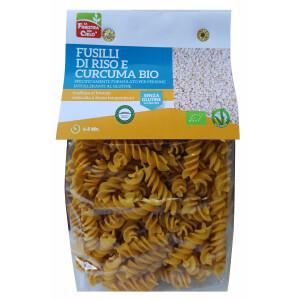Paste Fusilli bio din orez cu turmeric 250g (fara gluten)