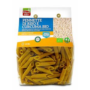 Paste Pennette din orez cu turmeric 250g (fara gluten)