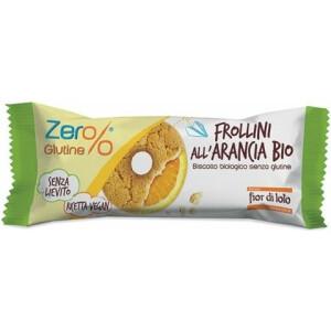 Biscuiti Frollini bio cu portocale, fara gluten, fara drojdie, Fior di Loto 30g