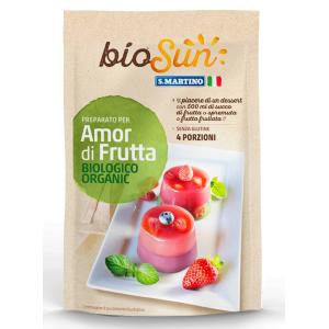 Preparat pentru desert cu fructe bio fara gluten, vegan 62g bioSUN