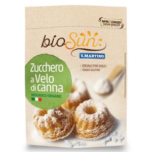 Zahăr pudră din trestie bio fără gluten, vegan 125g bioSUN