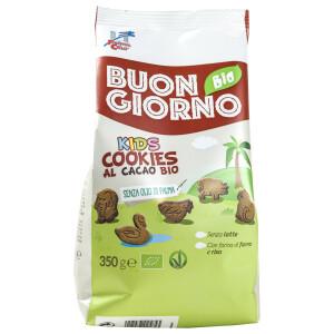 Biscuiti BuongiornoBio Kids din spelta, orez si cacao (produs vegan) 350g