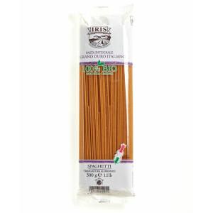 Paste bio Spaghete din faina grisata de grau dur integral 500G IRIS