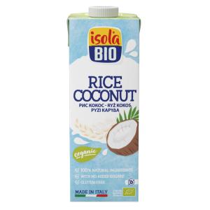 Bautura bio din orez cu nuca de cocos Isola Bio 1L (fara gluten, fara lactoza)