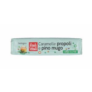 Bomboane bio cu propolis si pin, fara gluten, Baule Volante 45g