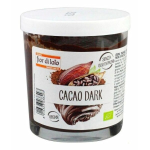 Crema bio tartinabila de ciocolata amaruie (cu cacao), fara ulei de palmier, vegan, Fior di Loto 200g