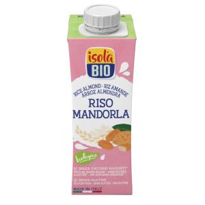 Băutura bio din orez cu migdale Isola Bio 250ml (fara gluten, fara lactoza)