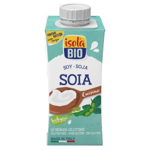 Crema bio din soia pentru gatit, fara gluten, Isola Bio 200ml