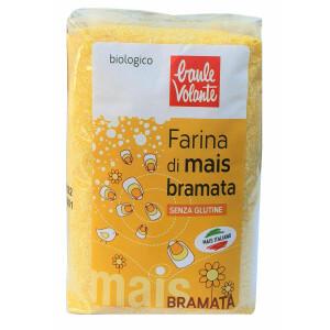 Faina bio de porumb Bramata (malai Bramata) fara gluten, Baule Volante 500g