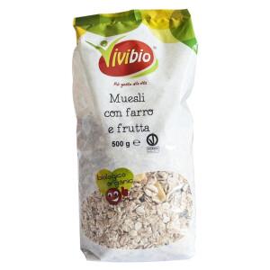 Musli bio cu spelta si fructe uscate Vivibio 500g