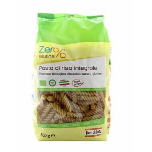 Paste bio Fusilli din orez integral, fara gluten, Fior di Loto 500g