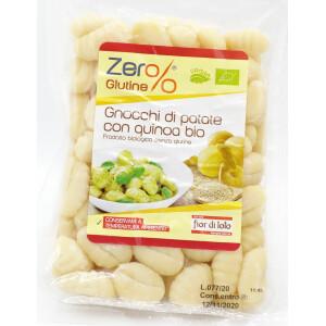 Gnocchi din cartofi si quinoa bio, fara gluten, vegan, Fior di Loto 400g