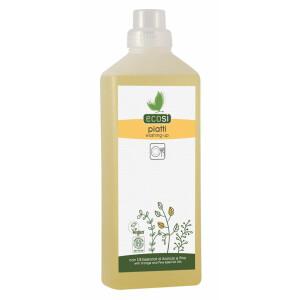 Detergent solutie ECO pentru spalat vase cu ulei esential de portocale si pin ECOSI 1000ml - Rezerva