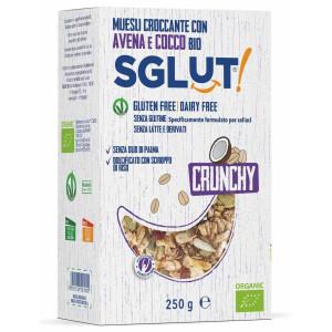 Musli crocant bio cu fulgi de ovaz si cocos fara gluten (vegan, fara lapte) SGLUT 250g