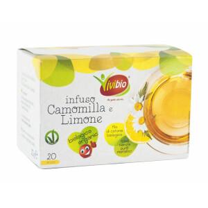 Ceai Bio de musetel si lamaie, vegan, 20 plicuri, Vivibio, 20g